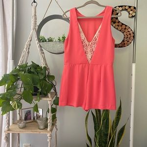 ASTR Romper with lace back medium